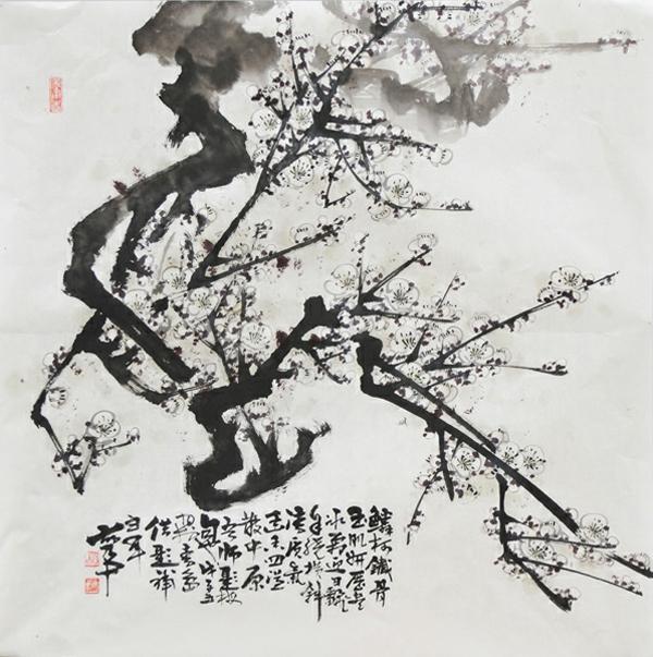 《梅》-胡乃中-名家国画-东营宜得轩画廊